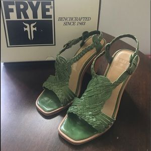 Frye Rose Woven T-strap Sandal